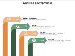 Qualities Entrepreneur Ppt Powerpoint Presentation Infographic Template Gridlines Cpb