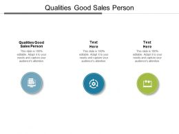 Qualities Good Sales Person Ppt Powerpoint Presentation Ideas Background Designs Cpb