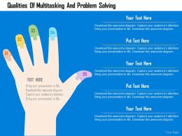 Qualities Of Multitasking And Problem Solving Flat Powerpoint Design