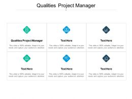 Qualities Project Manager Ppt Powerpoint Presentation Layouts Professional Cpb