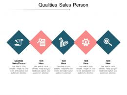 Qualities Sales Person Ppt Powerpoint Presentation Ideas Objects Cpb