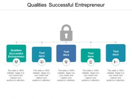Qualities Successful Entrepreneur Ppt Powerpoint Presentation File Topics Cpb