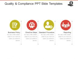 Quality And Compliance Ppt Slide Templates