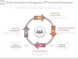 Quality And Systems Management Ppt Examples Professional