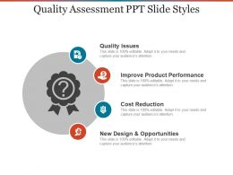 Quality Assessment PPT Slide Styles