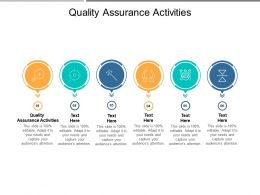 Quality Assurance Activities Ppt Powerpoint Presentation Icon Show Cpb