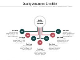 Quality Assurance Checklist Ppt Powerpoint Presentation File Deck Cpb