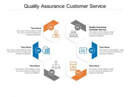 Quality Assurance Customer Service Ppt Powerpoint Presentation Diagrams Cpb