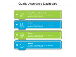 Quality Assurance Dashboard Ppt Powerpoint Presentation Outline Elements Cpb