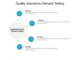 Quality Assurance Demand Testing Ppt Powerpoint Presentation Model Icon Cpb