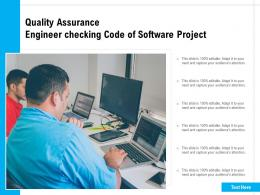 Quality Assurance Engineer Checking Code Of Software Project