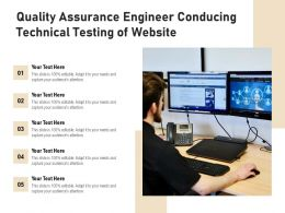 Quality Assurance Engineer Conducing Technical Testing Of Website