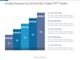 Quality Assurance Growth Bar Graph Ppt Slides