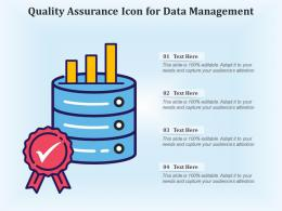 Quality Assurance Icon For Data Management