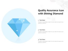 Quality Assurance Icon With Shining Diamond