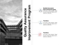 Quality Assurance Improvement Program Ppt Powerpoint Presentation Icon Slideshow Cpb