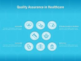 Quality Assurance In Healthcare Ppt Powerpoint Presentation Model Mockup