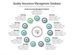 Quality Assurance Management Database Ppt Powerpoint Presentation Styles Influencers Cpb