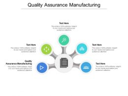 Quality Assurance Manufacturing Ppt Powerpoint Presentation Gallery Tips Cpb