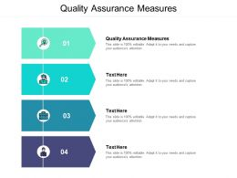 Quality Assurance Measures Ppt Powerpoint Presentation Show Cpb