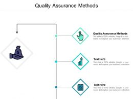Quality Assurance Methods Ppt Powerpoint Presentation Vector Cpb