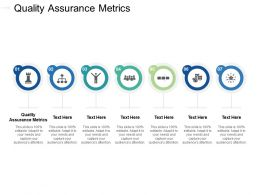 Quality Assurance Metrics Ppt Powerpoint Presentation Gallery Guidelines Cpb