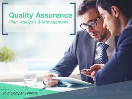 Quality Assurance Plan Analysis And Management Powerpoint Presentation Slides