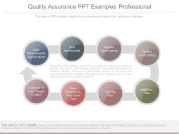Quality Assurance Ppt Examples Professional