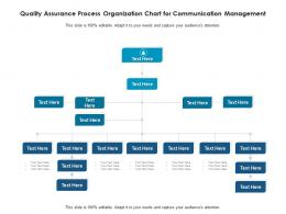 Quality Assurance Process Organization Chart For Communication Management Infographic Template