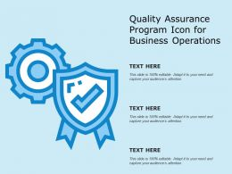 Quality Assurance Program Icon For Business Operations