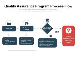 Quality Assurance Program Process Flow