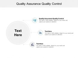 Quality Assurance Quality Control Ppt Powerpoint Presentation Gallery Brochure Cpb