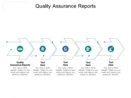 Quality Assurance Reports Ppt Powerpoint Presentation Infographic Template Example Introduction Cpb
