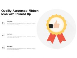 Quality Assurance Ribbon Icon With Thumbs Up