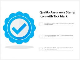 Quality Assurance Stamp Icon With Tick Mark