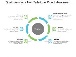 Quality Assurance Tools Techniques Project Management Ppt Powerpoint Presentation Icon Ideas Cpb