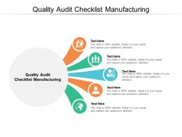 Quality Audit Checklist Manufacturing Ppt Powerpoint Presentation Infographic Template Cpb