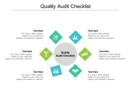 Quality Audit Checklist Ppt Powerpoint Presentation Outline Model Cpb