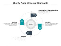 Quality Audit Checklist Standards Ppt Powerpoint Presentation Professional Example Topics Cpb