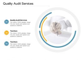 Quality Audit Services Ppt Powerpoint Presentation Outline Display Cpb