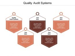 Quality Audit Systems Ppt Powerpoint Presentation Information Cpb