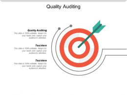 Quality Auditing Ppt Powerpoint Presentation File Slide Download Cpb