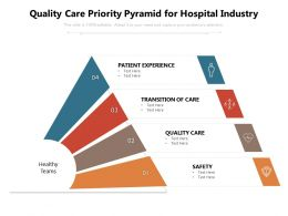 Quality Care Priority Pyramid For Hospital Industry