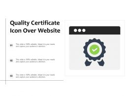 Quality Certificate Icon Over Website