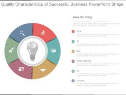 Quality Characteristics Of Successful Business Powerpoint Shape