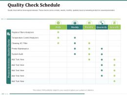 Quality Check Schedule Ac Filter Ppt Powerpoint Presentation Designs Download