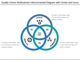Quality Choice Multicolored Interconnected Diagram With Circles And Icons