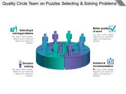 Quality Circle Team On Puzzles Selecting And Solving Problems