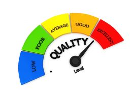 Quality Conceptual Meter Indicate Maximum Level Stock Photo