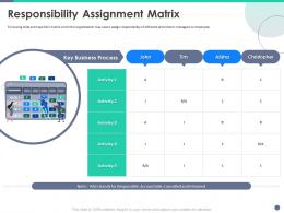 Quality Control Engineering Responsibility Assignment Matrix Ppt Powerpoint Presentation Styles
